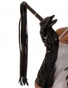 Peitsche Kostümaccessoire schwarz