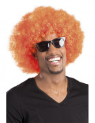 Afroperücke Kostüm-Accessoire orange