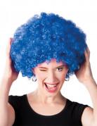 Voluminöse Afro-Perücke Clownsperücke blau