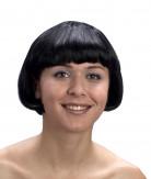Kurze Damenperücke schwarz