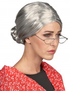 Großmutter Damen-Perücke grau
