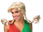 Damenperücke mit Zöpfen blond