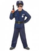 Kleiner Polizist Kinderkostüm Officer blau-schwarz-silber