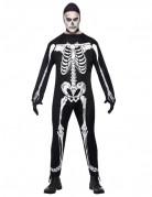 Herren Skelett-Kostüm scharz-weiss