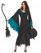 Geheimnisvolle Hexe Damenkostüm Zauberin schwarz-grün