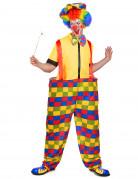 lustiger Zirkus-Clown Kostüm Zirkus bunt