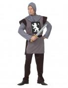 Ritter-Kostüm Mittelalterlicher Waffenrock grau