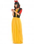 Märchen-Prinzessin Damenkostüm gelb-schwarz-rot