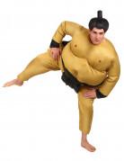 Sumoringer-Kostüm Jumpsuit haut-schwarz