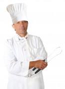 Riesen Kochmütze Kostüm-Zubehör weiss