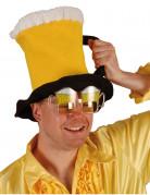 Bierkrughut gelb-weiss-schwarz