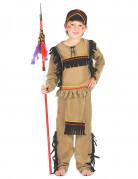 Indianer-Kinderkostüm Tapferer Indianerkrieger beige-schwarz