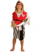 Piratin Kinderkostüm Freibeuterin schwarz-rot-weiss