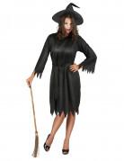 verruchte Hexe Damen-Kostüm schwarz