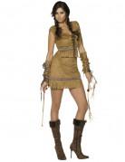 Indianerin Damenkostüm Western beige