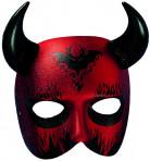 Teufel Maske rot-schwarz