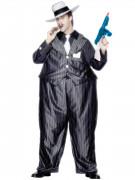 Fetter Gangster Kostüm schwarz-weiss