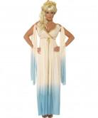 Griechische Göttin Damenkostüm weiss-blau-gold