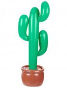 Aufblasbarer Kaktus Party-Deko grün-braun 85cm
