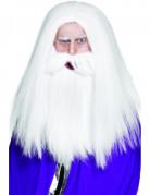 Magier-Perücke mit Bart weiss