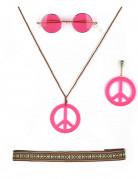 Hippie Accessoires Set rosa