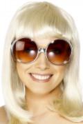 Brille Retro braun-silber