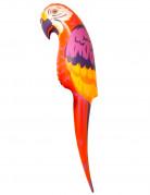 Papagei aufblasbar Party-Deko bunt 110cm