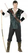 Bogenschütze Mittelalter Kostüm grün-braun-weiss