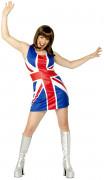 Großbritannien Flagge Union Jack Damenkostüm blau-rot-weiss