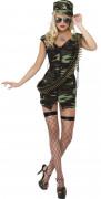 Soldatin Kostüm Karneval camouflage