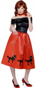 Rock'n'Roll Kleid rot M