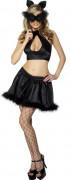 Katze Damen-Kostüm schwarz
