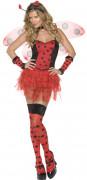 Sexy Marienkäfer Damen-Kostüm schwarz-rot