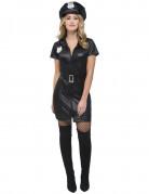 Sexy Polizistin Damenkostüm schwarz