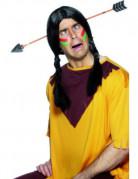 Indianer-Pfeil durch Kopf Haarreif grau-beige