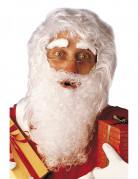 Weihnachtsmanns-Set mit Perücke Bart und Augenbrauen 4-teilig weiss