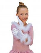 Handschuhe Prinzessin für Mädchen weiss