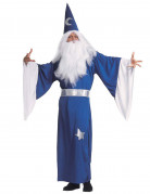 Zauberer-Herrenkostüm blau