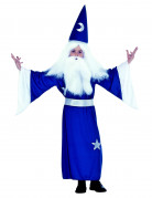 Zauberer Kinderkostüm Magier blau-weiss
