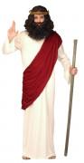 Jesus-Kostüm Religiöses Herrenkostüm Prophet weiss-rot