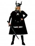 Wikingerfrau Damenkostüm Kriegerin braun