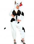 Sexy Kuh-Kostüm für Damen - weiß mit schwarzen Flecken