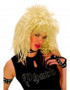 80er Rock-Perücke Kostüm-Accessoire blond