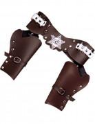 Pistolen-Holster Wilder Westen Kostüm-Accessoire braun