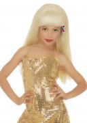 Popstar-Perücke für Mädchen blond