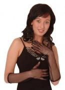 Netzhandschuhe lang schwarz