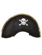 Piratenkapitänshut Seeräuber Kopfbedeckung schwarz