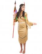 Indianerin Squaw Damenkostüm beige