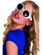 Disco-Brille Kostüm-Zubehör schwarz-weiss