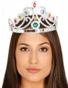 Königin Krone Diadem silber-bunt